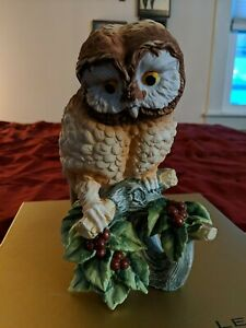 Elf Owl Bird Andrea by Sadek Figurine Porcelain