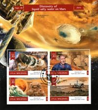 MARS Reconnaissance Orbiter Discovery of Water Space Stamp Sheet (2015 Maldives)