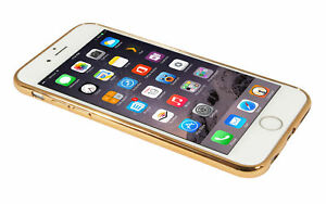 Eloja® iPhone 6 Plus Hülle TPU Cover Case Bumber Metall Optik Gold