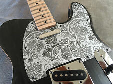 Silver Floral Paisley Custom Bakelite Pickguard Fender® Telecaster® Tele® 8 hole