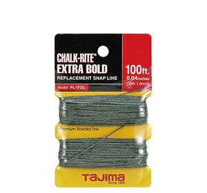 Tajima PL-ITOL Chalk-Rite® Replacement Extra Bold Braided Line, 1.0 mm x 100 ft