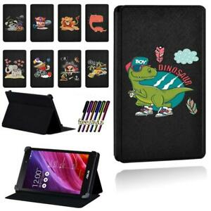Printed PU Leather Smart Stand Case Cover FIit Asus MEMO Pad 7 8 10 + Pen