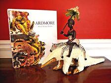 Ardmore Ceramic Pangolin Animal Rider 2pc Parasol Zebra Monkey Zulu $6K Nwt Sale