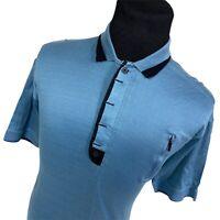 Jamie Sadock Blue Short Sleeve Pocket Performance Golf Polo Shirt Mens Large L