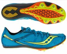 SAUCONY MEN'S BALLISTA BLUE & YELLOW TRACK RUNNING SPIKE SHOES SIZE 11