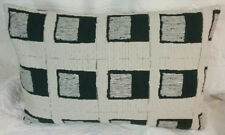 BLACK & WHITE BLOCKS Modern Contemporary Mid Century Bolster Pillow
