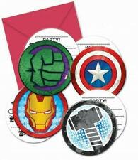 Avengers Superhero Birthday Party Hulk Thor Iron Man 16 Invitations + Envelopes