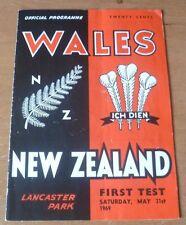 1969 - New Zealand v Wales, 1st Test Match Programme.