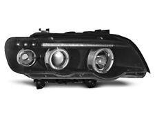 Paire de feux phares avant BMW X5 E53 99-03 angel eyes noir