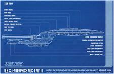 Impression encadré-Star Trek modèle USS Enterprise fédération (Photo Poster art