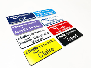 Engraved Hello my name is badges Student Nurse Health Care Assistant Hospital