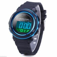 EPIC TIME- Solar Power LED Sports Watch- 5ATM Water Resistant -w Backlight Alarm