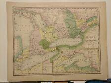 1843 Tanner: Map of Upper Canada, Ontario, Lake Superior