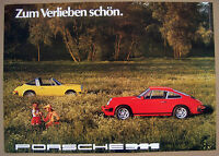 PORSCHE 911 COUPE TARGA 40th ANNIVERSARY HERITAGE SHOWROOM POSTER (1976) 2004