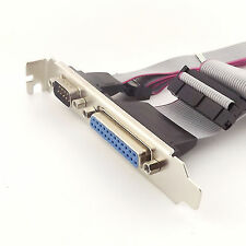 1x Serial DB9 COM with Parallel DB25 LPT to 10/26Pin IDC Flat wire Cable Bracket