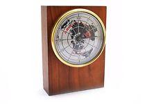Vintage Abbott Labs Abbott Health Care World Wide Wood Desk Clock