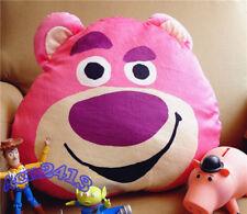 Original TOY STORY Lotso Strawberry Bear Plush Head Pillow Doll Toy Gift
