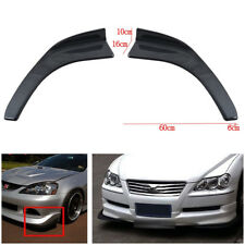 Carbon Fiber Look Winglet Type Style Front Bumper Lip Diffuser Splitters Canard
