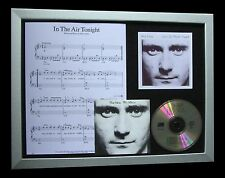 PHIL COLLINS In The Air Tonight TOP QUALITY CD FRAMED DISPLAY-EXPRESS WORLD SHIP