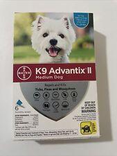 K9 Advantix Ii Flea Medicine Medium Dog 6 Month Supply - 11-20 lbs -Us/Epa