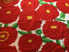 "Marimekko Fabric ""Primavera""  by the Yard, Perfect, New,100% Cotton, Reds"