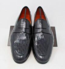 Magnanni Calos Black Crocodile Loafers SIZE 13 US (15965-1) 1230