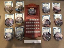 Thomas Kinkade Cherry Wood Perpetual Calendar with Certified Plates and Tiles