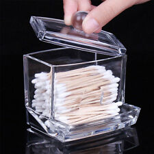 Acrylic Holder Box Storage Clear Cosmetic Makeup Organizer for Jewelry Q-tips