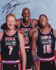 Michael Jordan Magic Johnson Larry Bird 8x10 Signed Autograph Reprint Photo