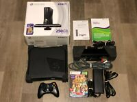 Xbox 360 250gb Console System Complete Kinect Works Excellent Condition