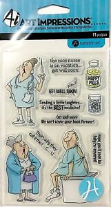 ART IMPRESSIONS CLEAR STAMPS ~GET WELL SOON CODE SC0681