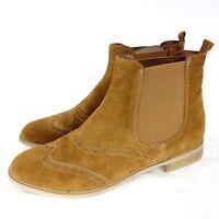 TAMARIS Damen Chelsea Stiefeletten Schuhe Gr 40 Braun Wildleder Leder NP 64 NEU