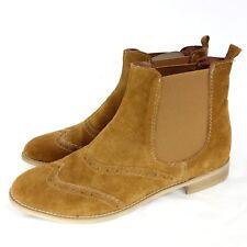 34462cad10fd47 TAMARIS Damen Chelsea Stiefeletten Schuhe Gr 40 Braun Wildleder Leder NP 64  NEU