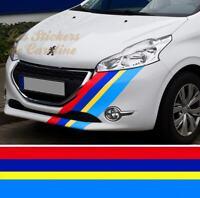 STICKER BANDE POUR PEUGEOT 208 SPORT RACING GTI RALLYE STRIPE AUTOCOLLANT BD414