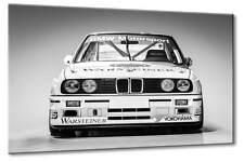 Leinwand Bild BMW DTM Rennwagen 3  3er Schwarzweiß Wandbild Art Kunst Oldtimer