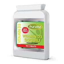 Vitamine D3 Mega Résistance 5000IU Comprimés Sain Dents OS Immunitaire GB Gélule