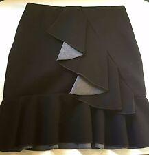 Ladies Womens Cue Fashion Business Skirt Black size 10