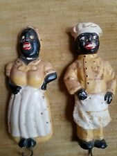 vintage chalk Chef and Mammy plaques