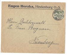 Germany/Upper Silesia/Hindenburg OS Cover - SC# 23 - to Nuremberg*