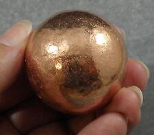 """Native Copper Sphere Ball Specimen 99.9% Pure Michigan USA 40mm 1 9/16"""" 278g"""