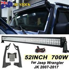 52inch 700W LED Work Light Bar + Mount Bracket For Jeep Wrangler JK 2007-2017