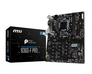 MSI B360-F Pro 6/12/18 PCI-E GPU Expert Mining Motherboard Ethereum B360F PCIE