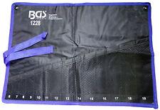 Etui souple de rangement pour 14 clés plates-mixtes-à œil de 6 à 19 mm pochette