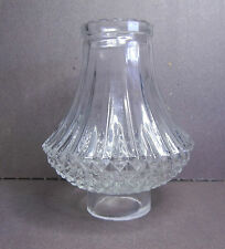 SHADE CLEAR THICK GLASS NICELY DESIGNED for OIL ELECTRIC LAMP SCONCE or CANDLE