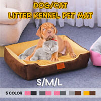 Large Soft Warm Mat Pet Kennel Dog Mat Cat Bed Washable Candy Color Square