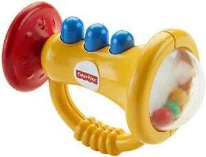 Ficher Price Teethe 'n Rattle Trumpet Soft Chewable Mouthpiece Teething Aid 3M+
