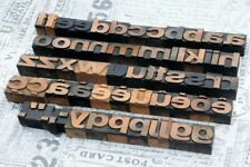 "a-z alphabet 1.06"" letterpress wooden printing blocks wood type printer vintage"