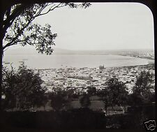 Glass Magic Lantern Slide CAPE TOWN & TABLE BAY C1890 SOUTH AFRICA