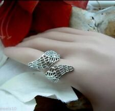 Christmas Gifts daughter mum Silver Angels Wing Ring Unusual for her Presents