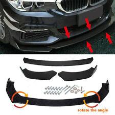 3pc Car Front Bumper Spoiler Body Kit Lip Splitter Chin Protector Black for AUDI